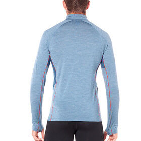 Icebreaker Strike Lite LS Half Zip Shirt Men Granite Blue Heather/Prussian Blue